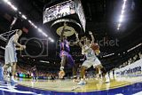 Danny Green 14 of the North Carolina Tar Heels is trapped in the corner by James Mays 40 and another Clemson Tigers defender during the final of the 2008 Men's ACC Basketball Tournament at Bobcats Arena on March 16 2008